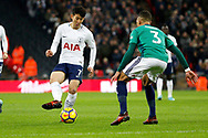 Tottenham Hotspur forward Son Heung-Min (7) plays a pass during the Premier League match between Tottenham Hotspur and West Bromwich Albion at Wembley Stadium, London, England on 25 November 2017. Photo by Andy Walter.