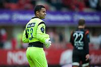 Fotball<br /> 22. Juli 2012<br /> Tippeligaen<br /> Brann - Aalesund<br /> Aalesunds keeper Sten Grytebust depper etter tabbe som ble til scoring for Brann<br /> Foto: Astrid M. Nordhaug