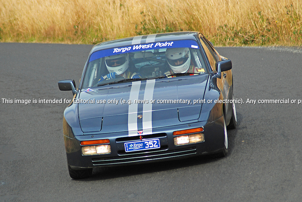 352 Brian Shearer & Brett Stanistreet .1990 Porsche 944 S2.Day 2.Targa Wrest Point 2010.Southern Tasmania.31st of January 2010.(C) Sarah Biggin.Use information: This image is intended for Editorial use only (e.g. news or commentary, print or electronic). Any commercial or promotional use requires additional clearance.