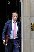 February 25, 2020, London, England, United Kingdom: Secretary of State for Health and Social Care Matt Hancock leaving after attending a Cabinet meeting at 10 Downing Street, in London on Tuesday, Feb. 25, 2020. (Credit Image: © Vedat Xhymshiti/ZUMA Wire)