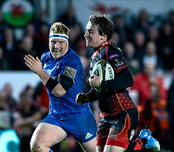 Rhodri Williams of Dragons<br /> <br /> Photographer Simon King/Replay Images<br /> <br /> Guinness PRO14 Round 10 - Dragons v Leinster - Saturday 1st December 2018 - Rodney Parade - Newport<br /> <br /> World Copyright © Replay Images . All rights reserved. info@replayimages.co.uk - http://replayimages.co.uk