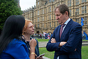 Alistair Campbell, former Downing Street Press Secretary being interviewed on College Green on 24th May 2019 in London, England, United Kingdom. Todays announcement by Britains Prime Minister to step down on the 7th June has started a leadership race in the Conservative Party.