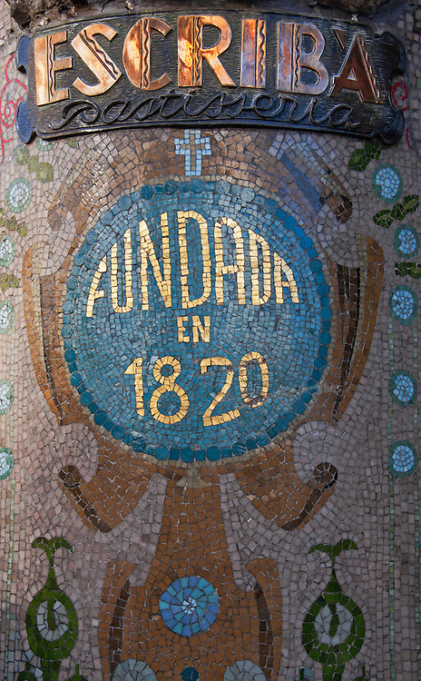 Mosaic on the streets of Barcelona.