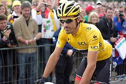 01.07.2012, Luettich, BEL, Tour de France, 1. Etappe Luettich-Seraing, im Bild CANCELLARA Fabian (RadioShack Nissan) auf dem Weg zum Start // during the Tour de France, Stage 1, Liege-Seraing, Belgium on 2012/07/01. EXPA Pictures © 2012, PhotoCredit: EXPA/ Eibner/ Ben Majerus..***** ATTENTION - OUT OF GER *****