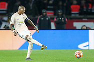 Manchester United Midfielder Ashley Young during the Champions League Round of 16 2nd leg match between Paris Saint-Germain and Manchester United at Parc des Princes, Paris, France on 6 March 2019.