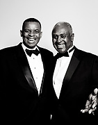 Anthony Foxx and Harvey Gantt at the 2009 Founders Society Gala at the new Harvey B. Gantt Center for African-American Arts + Culture Friday, Oct. 23, 2009. WENDY YANG - wyang@charlotteobserver.com