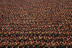 August 12, 2017 - Aceh, Indonesia - More than ten thousand dancers participate in Saman mass traditional dance at Aceh. (Credit Image: © Junaidi/Xinhua via ZUMA Wire)
