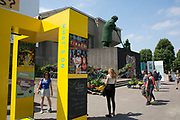 This summer the South Bank Centre asked artists, designers, architects and community groups to help turn Southbank Centre into London's friendliest area in the Festival of Neighbourhood. With a particular focus on community gardens and gardening, the area was transformed into a living growing arts and culture area with giant topiary and plants growing in any available space.