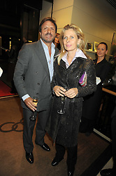 The HON.SIR ROCCO & LADY FORTE at a party hosted by Links of London to launch their new Driver Chicane Chronograph Watch held at Lonks, Sloane Square, London on 24th September 2008.