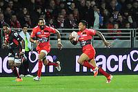 Essai David SMITH - 14.03.2015 - Lyon OU / Toulon -  20eme journee de Top 14<br /> Photo : Jean Paul Thomas  / Icon Sport<br /> <br />   *** Local Caption ***