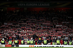 FC Koln fans during the Europa League match at the Emirates Stadium, London.