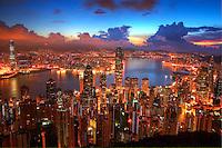 Hong Kong Cityscape from Victoria Peak @ Sunrise