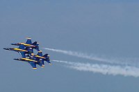 Four Blue Angels in Unison