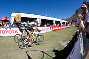 during stage one of the 2010 Absa Cape Epic Mountain Bike stage race from Diemersfontein Wine estate, Wellington, to Ceres in the Western Cape, South Africa on the 21 March 2010.Photo by Greg Beadle/SPORTZPICS