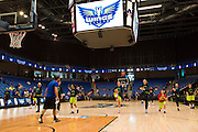 The Dallas Wings warm up before tipoff against the Connecticut Sun during a WNBA preseason game in Arlington, Texas on May 8, 2016.  (Cooper Neill for The New York Times)