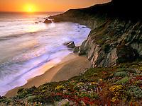 Sunsetting along Garrapata Beach.