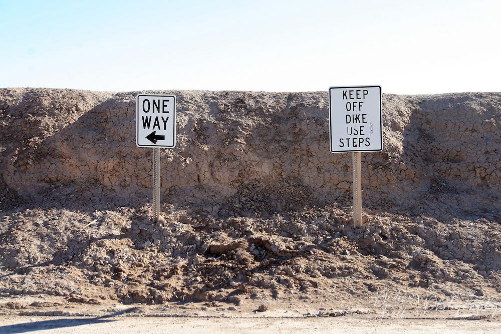 After the Salton Sea started to rise and take over the land a dike had to be built to save the rest of Bombay Beach from being destroyed.