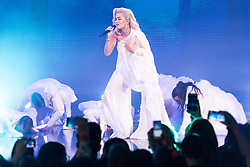 © Licensed to London News Pictures. 30/10/2018. London, UK. RITA ORA performs at the Westfield London 10th Anniversary Celebrations. Photo credit: Ray Tang/LNP