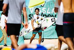 Ian Gouveia BRA at the 2019 Vissla Manly Surf Pro at Manly Beach, NSW, Australia.
