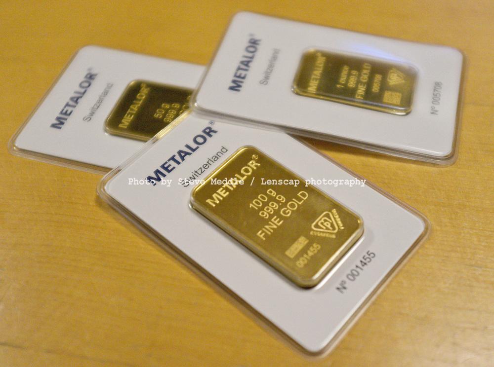 100g Gold Bar Made by Swiss refiners Metalor - Nov 2011