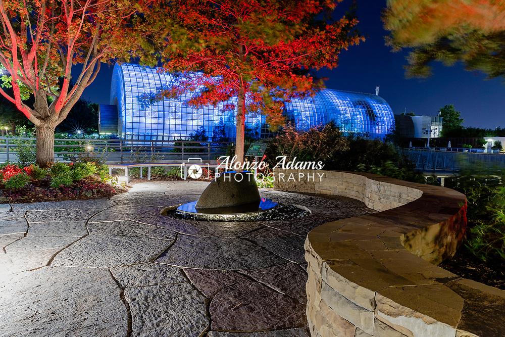 The Tanenbaum Reflection Garden in the Myriad Botanical Gardens in downtown Oklahoma City on Tuesday, August 28, 2018. Photo copyright © 2018 Alonzo J. Adams.