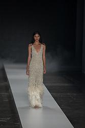August 28, 2017 - Sao Paulo, Sao Paulo, Brazil - Model presents creation by Fabiana Milazzo, during the Sao Paulo Fashion Week, N44 Summer 2018 edition, in Sao Paulo, Brazil. (Credit Image: © Paulo Lopes via ZUMA Wire)