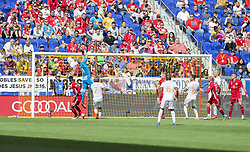September 30, 2018 - Harrison, New Jersey, United States - Goalkeeper Luis Robles (31) of Red Bulls saves during regular MLS game against Atlanta United FC at Red Bull Arena Red Bulls won 2 - 0 (Credit Image: © Lev Radin/Pacific Press via ZUMA Wire)