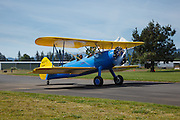 Taxiing the Stearman Model 70, prototype of the famous PT-13 and PT-17.