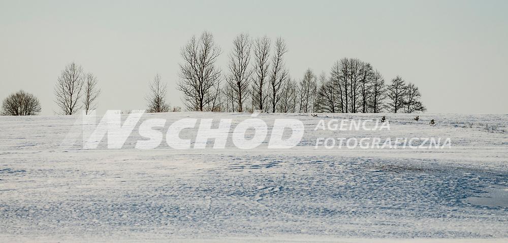 23.03.2013 Krynki woj podlaskie N/z zimowy pejzaz fot Michal Kosc / AGENCJA WSCHOD