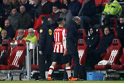 Hirving Lozano of PSV during the Dutch Eredivisie match between PSV Eindhoven and sc Heerenveen at the Phillips stadium on February 17, 2018 in Eindhoven, The Netherlands