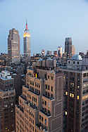 New York, elevated view on  midtown and times square,