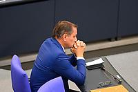 DEU, Deutschland, Germany, Berlin, 25.08.2021: AfD-Parteichef Tino Chrupalla (AfD) in der Plenarsitzung im Deutschen Bundestag.