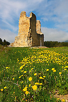 France. Ariege. Chateau de Montaillou. //  France. Ariege. Montaillou castle.