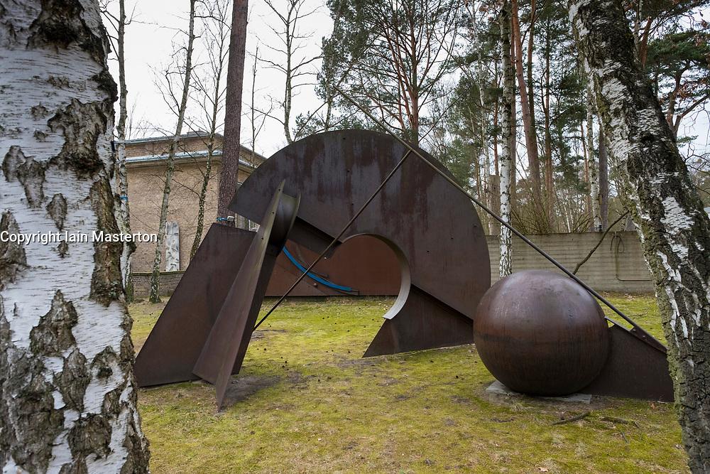 Sculpture Tor der Kugel by Bernhard Heiliger at Kunsthaus Dahlem in Berlin, Germany.
