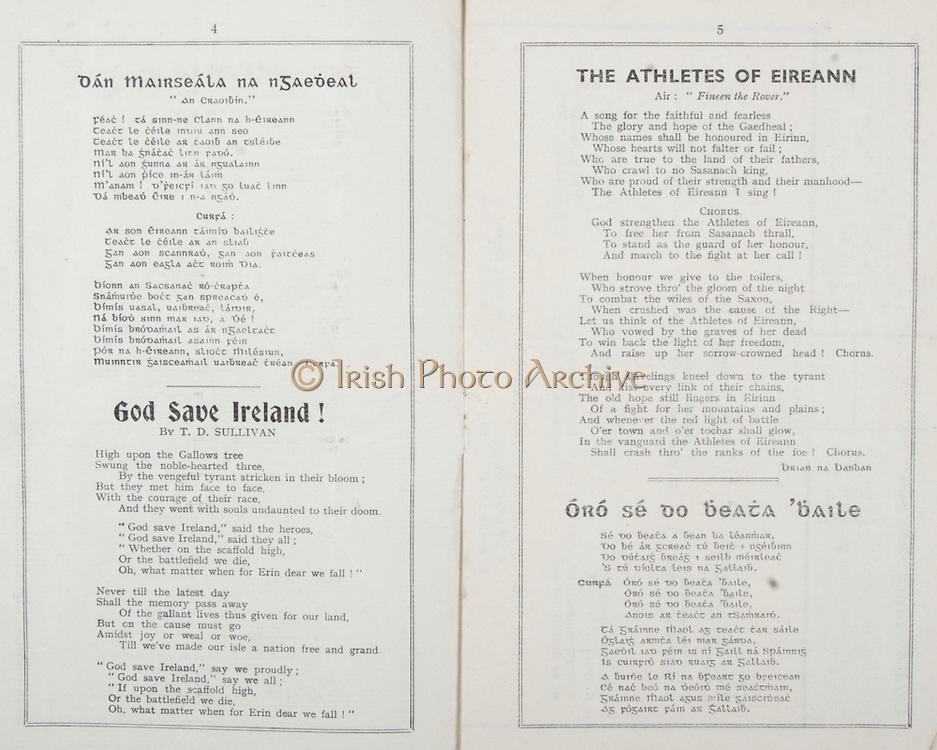 All Ireland Senior Hurling Championship Final,.Brochures,.01.09.1940, 09.01.1940, 1st September 1940, .Kilkenny 1-7, Limerick 3-7, .Minor Limerick v Antrim,.Senior Kilkenny v Limerick, .Croke Park, 0191940AISHCF,..Songs, Dan Mairseala Na nGaedeal, God Save Ireland!, The Athletes of Eireann, Oro Se Do Beata Baile,