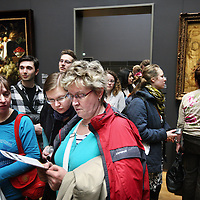 Nederland, Amsterdam , 13 april 2013.<br /> Openingsdag van het Rijksmuseum,<br />  Het publiek mocht gratis een kijkje nemen in het museum dat meer dan 10 jaar gesloten was vanwege renovatie.<br /> Amsterdam, 13 April 2013 Rijksmuseum opened after 10 years of renovation: the public could take a look at the museum for free.