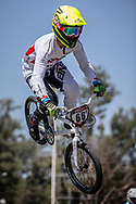 #66 (PALMER James) CAN at round 8 of the 2018 UCI BMX Supercross World Cup in Santiago del Estero, Argentina.