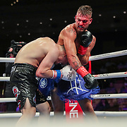 HOLLYWOOD, FL - APRIL 17: Ty Mcleod throws a punch over Alexis Espino at Seminole Hard Rock Hotel & Casino on April 17, 2021 in Hollywood, Florida. (Photo by Alex Menendez/Getty Images) *** Local Caption *** Alexis Espino; Ty Mcleod