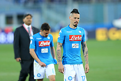 April 29, 2018 - Florence, Italy - The disappointment of Marek Hamsik of Napoli at Artemio Franchi Stadium in Florence, Italy on April 29, 2018, during Serie A match between ACF Fiorentina v SSC Napoli. (Credit Image: © Matteo Ciambelli/NurPhoto via ZUMA Press)