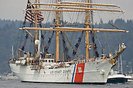 The U.S. Coast Guard Cutter Eagle arrives at the Tall Ships Festival in Tacoma, WA  Thursday, July 3, 2008. (Photo/John Froschauer).
