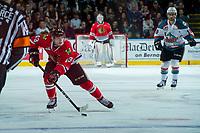 KELOWNA, CANADA - APRIL 8: Skyler McKenzie #43 of the Portland Winterhawks skates with the puck against the Kelowna Rockets on April 8, 2017 at Prospera Place in Kelowna, British Columbia, Canada.  (Photo by Marissa Baecker/Shoot the Breeze)  *** Local Caption ***
