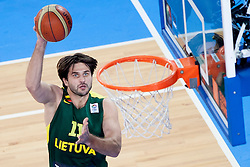Linas Kleiza #11 of Lithuania during basketball match between National teams of Ukraina and Lithuania in 2nd Round at Day 12 of Eurobasket 2013 on September 14, 2013 in SRC Stozice, Ljubljana, Slovenia. (Photo By Urban Urbanc / Sportida)