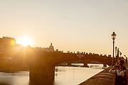 FLORENCE: sunset at Ponte Santa Trinità