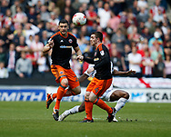 James Wilson of Sheffield Utd in action during the English League One match at  Stadium MK, Milton Keynes. Picture date: April 22nd 2017. Pic credit should read: Simon Bellis/Sportimage