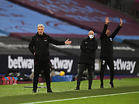 Football - 2020 / 2021 Premier League - West Ham United vs Brighton & Hove Albion - London Stadium<br /> <br /> West Ham United manager David Moyes gestures from the touchline.<br /> <br /> COLORSPORT/ASHLEY WESTERN