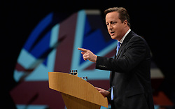 David Cameron Keynote Speech. <br /> The Prime Minister David Cameron during his keynote speech to the Conservative Party Conference, Manchester, United Kingdom. Wednesday, 2nd October 2013. Picture by Andrew Parsons / i-Images
