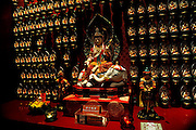 Figure of Samantabadra, Protector of those born in the year of the Dragon and year of the Snake. Buddha Tooth Relic Temple and Museum, Singapore