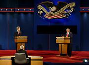 2004 Presidential Debate between John Kerry and President George W Bush in Tempe Arizona