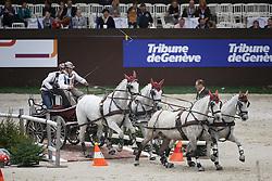 Mourier Sebastien, (FRA), Beretto, Bolygo, Divers, Incas <br /> FEI World Cup Driving <br /> Genève 2015<br /> © Hippo Foto - Dirk Caremans<br /> 13/12/15