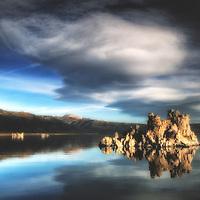 Sierra Wave cloud over Mono Lake at dawn, Mono Lake, California.